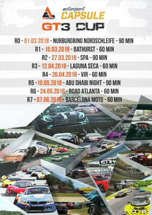 ACLeague Motorsport Capsule GT3 Cup Kalendarz