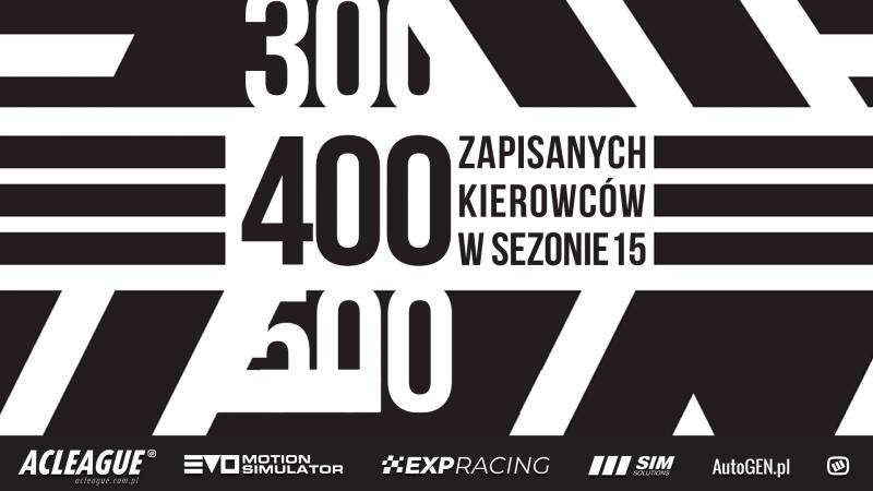400 kierowców w sezonie 15 - Image